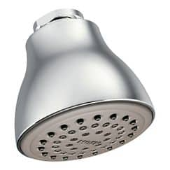 "Chrome one-function 2-1/2"" diameter spray head standard showerhead"